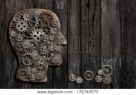 brain function, psychology, memory, invention or mental activity conception 3D illustration