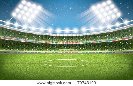 Soccer Stadium. Football Arena.