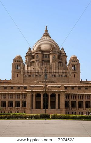 Umaid Bhawan palace hotel in the beautiful city of jodhpur in rajasthan state in India poster