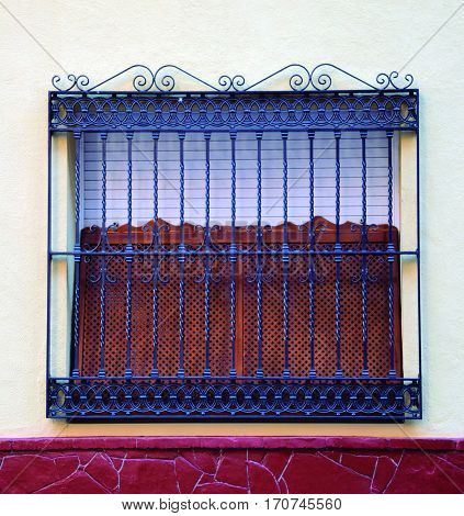 Decorative grill. Protection against theft while preserving aesthetics.