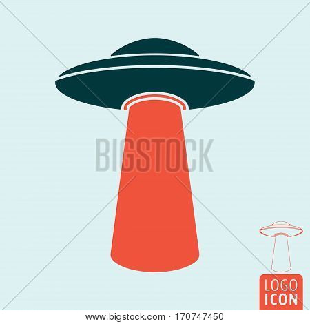 Ufo icon. Unidentified flying object symbol. Vector illustration