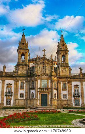 Church and hospital of Sao Marcos (St. Mark) in Braga, Portugal