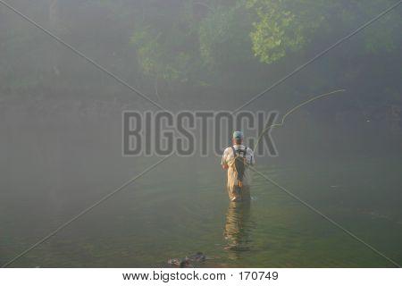 Fly Fishing In Fog - 1