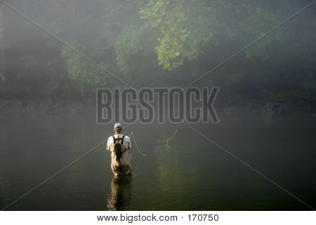 Fly Fishing In Fog - 2