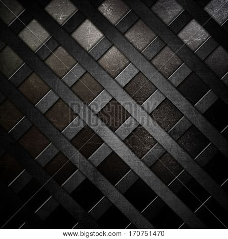Abstract lattice metallic background with scratches and stains