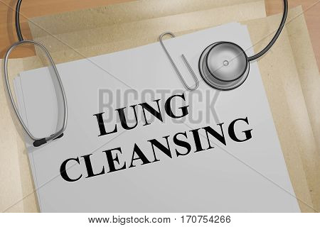 Lung Cleansing - Medical Concept