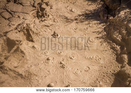 Orakei Korako geothermal valley, mud pool