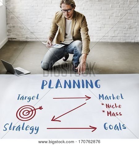 Business Plan Strategy Goals Target Marketing Concept