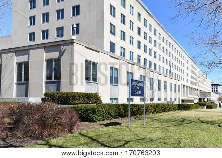 WASHINGTON DC, US - 14 MARCH 2014: United States Department of State Headquarters in Washington, DC.
