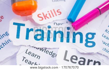 Training banner,Training for learn,skill,productivity, capacity building, knowledge, development