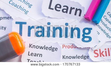 Training banner,Training for learn,skill ,productivity, capacity building, knowledge, development
