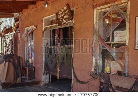 OCTOBER 14, 2015, Calico, CA, USA: a ghost town Calico  in California, United States, founded as a silver mining town in 19 century, a county park now.