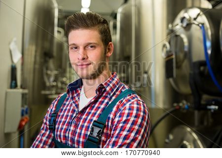 Portrait of brewer at brewery