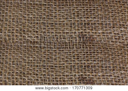 Brown sackcloth jute canvas as background image