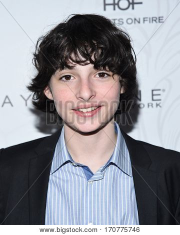 LOS ANGELES - JAN 28:  Finn Wolfhard arrives to the Entertainment Weekly Pre Sag Awards Celebration on January 28, 2017 in Hollywood, CA