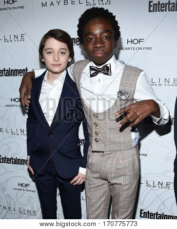 LOS ANGELES - JAN 28:  Noah Schnapp and Caleb McLaughlin arrives to the Entertainment Weekly Pre Sag Awards Celebration on January 28, 2017 in Hollywood, CA