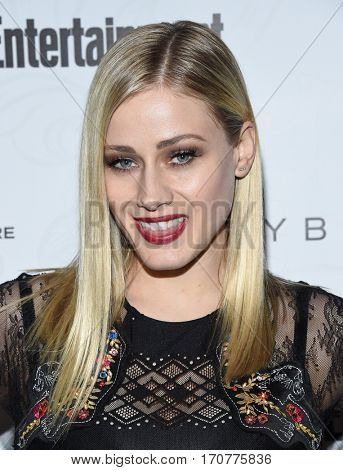 LOS ANGELES - JAN 28:  Olivia Taylor Dudley arrives to the Entertainment Weekly Pre Sag Awards Celebration on January 28, 2017 in Hollywood, CA