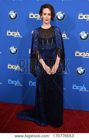 LOS ANGELES - FEB 04:  Sarah Paulson arrives for the 69th Annual DGA Awards on February 4, 2017 in Beverly Hills, CA
