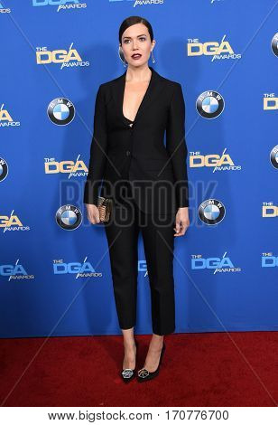 LOS ANGELES - FEB 04:  Mandy Moore arrives for the 69th Annual DGA Awards on February 4, 2017 in Beverly Hills, CA