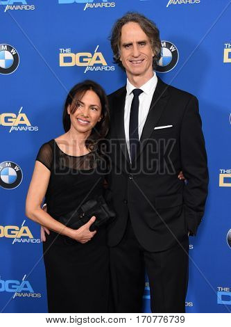 LOS ANGELES - FEB 04:  Susanna Hoffs and Jay Roach arrives for the 69th Annual DGA Awards on February 4, 2017 in Beverly Hills, CA