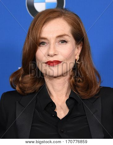LOS ANGELES - FEB 04:  Isabelle Huppert arrives for the 69th Annual DGA Awards on February 4, 2017 in Beverly Hills, CA