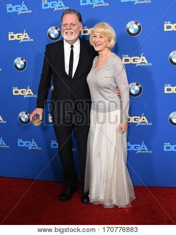 LOS ANGELES - FEB 04:  Taylor Hackford and Helen Mirren arrives for the 69th Annual DGA Awards on February 4, 2017 in Beverly Hills, CA