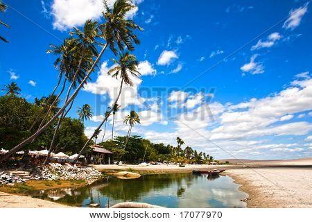 in the beautiful fisherman village of Jericoacoara in ceara state brazil