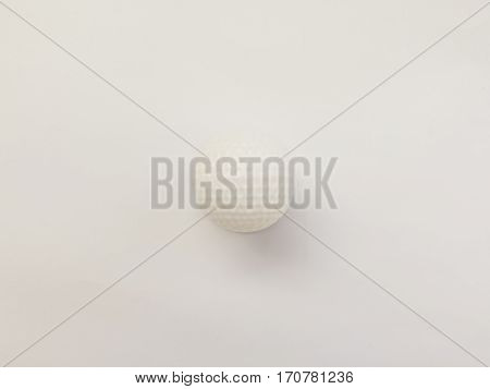 white Golf ball on white background, invisible