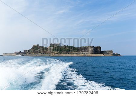 Battleship island in Japan