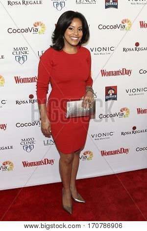 Sheinelle Jones attends the 14th Annual Woman's Day Red Dress Awards at Jazz at Lincoln Center on February 7, 2017 in New York City.