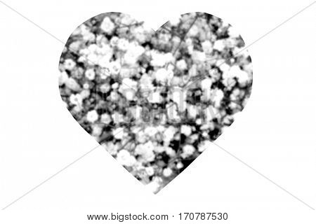 Black and White Abstract Heart isolated on white 2