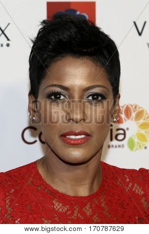 Journalist Tamron Hall attends the 14th Annual Woman's Day Red Dress Awards at Jazz at Lincoln Center on February 7, 2017 in New York City.