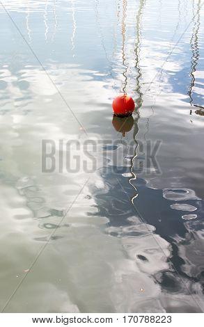 Red Buoy In Marina