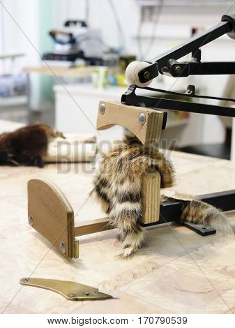 Close up fur equipment