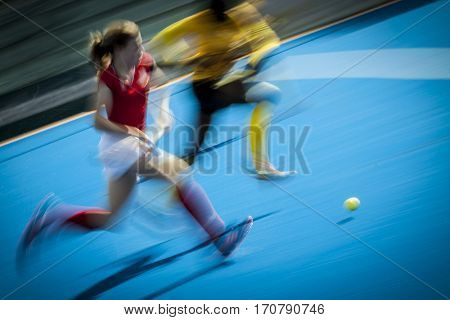 VALENCIA, SPAIN - FEBRUARY 7: Daria Skoraszewska during Hockey World League Round 2 match between Ghana and Poland at Betero Stadium on February 7, 2017 in Valencia, Spain