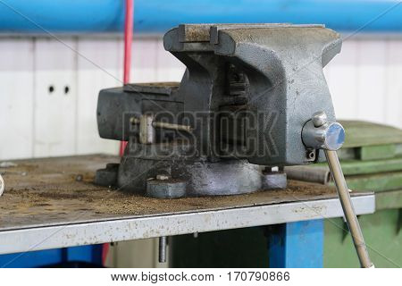 Vise on a working bench