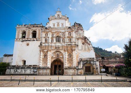 Old San Francisco Church in Antigua, Guatemala.
