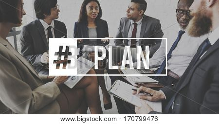 Business People Plan Partnership Meeting