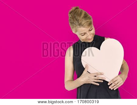 Heart Love Addore Affection Blonde Woman
