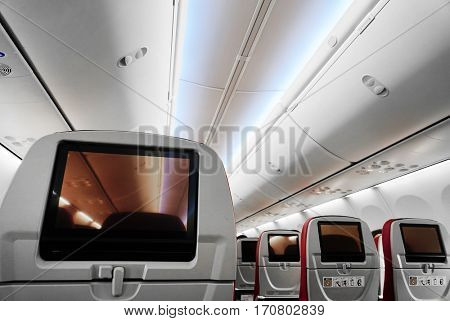 Empty Airplane Interior