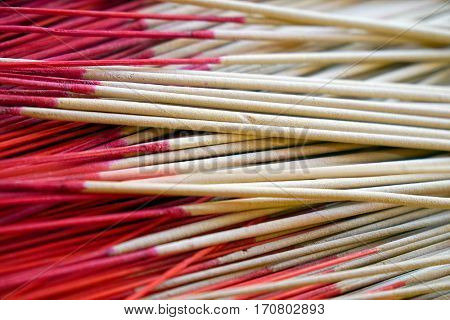 Incense Sticks Burning in a Chinese Temple
