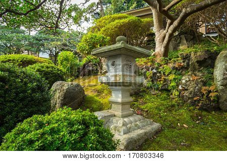 Japanese garden in Kamakura, Japan