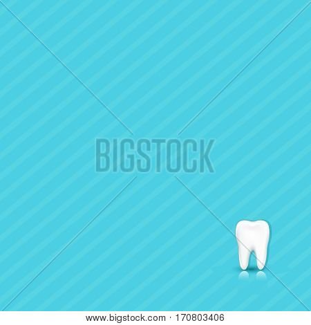 Dental Blue Background With Tooth