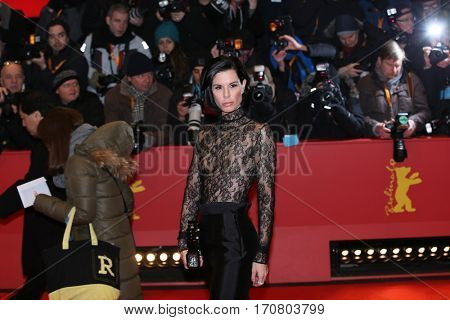 Julia Stoschek poses on the red carpet during opening ceremony of the 67th Berlinale International Film Festival at Grand Hyatt Hotel in Berlin, Germany on February 9, 2017.
