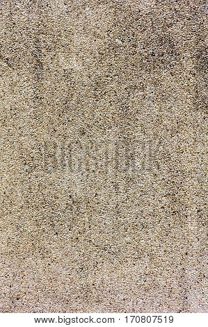 Detail of gravel floor Texture Small stones in concrete wall