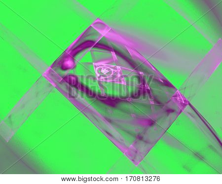 fractal and colorful lattice of the purple and green rectangles