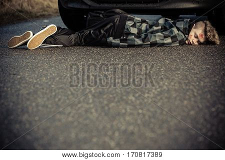 Motor Vehicle Accident And Fatality Concept