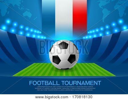 European football championship in France vector. Soccer.Football Europe.