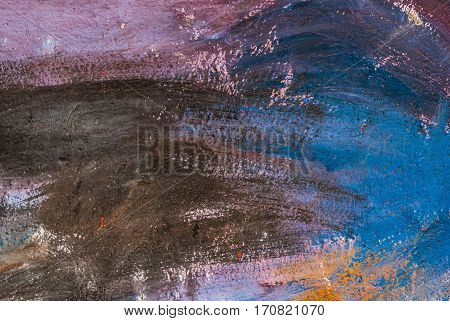 Closeup Abandoned Colorful Grunge Concrete Wall Background