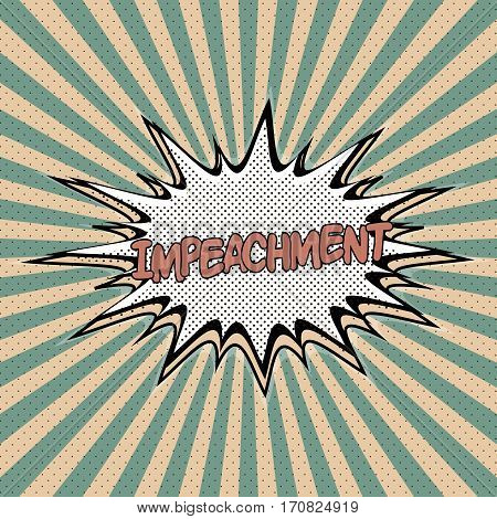 Declaration of love pop art, Comic Speech Bubble. impeachment cartoon explosion. Falling in impeachment . Vector